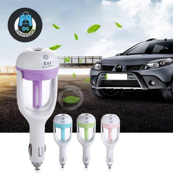 12V Car Steam Humidifier Air Purifier Aroma Diffuser Essential oil All Other Electronics Automobiles and Motorcycles cb5feb1b7314637725a2e7: Blue|Green|pink|Purple