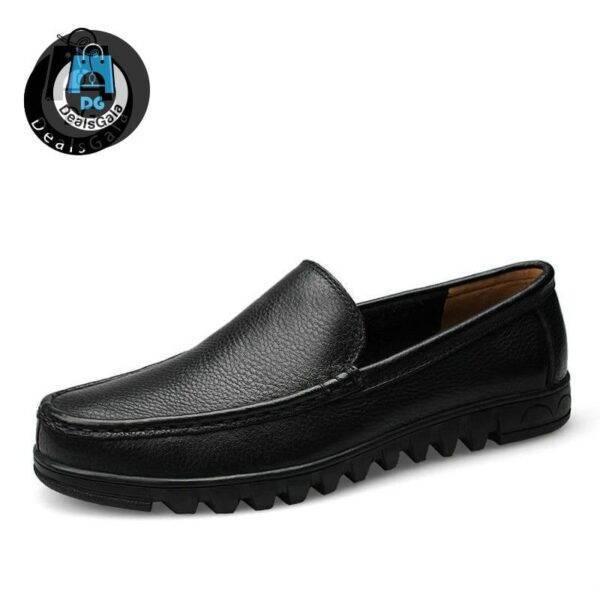 DEKABR Big Size 37-48 Genuine Leather Men Shoes Shoes Men's Shoes cb5feb1b7314637725a2e7: Black|Black Hole|Brown|Brown Hole