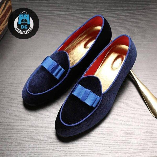 Pointed Toe Bow-knot Formal Men Shoes Shoes Men's Shoes cb5feb1b7314637725a2e7: Black|Blue|Red