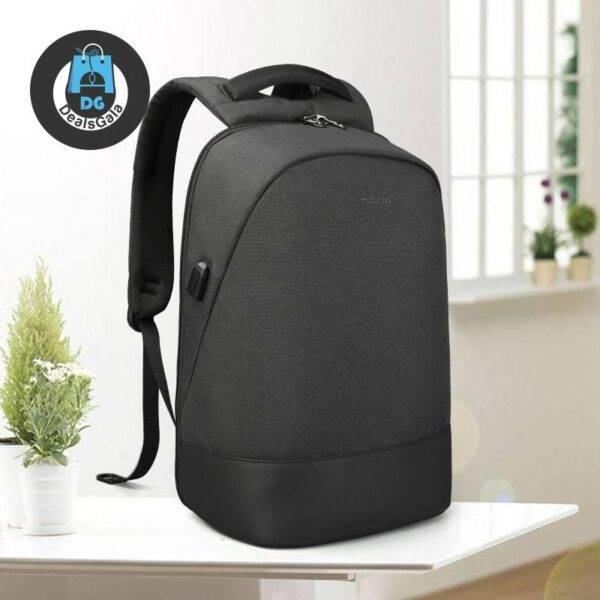 15.6″Laptop USB Charging Waterproof Anti Theft Men Backpack Men's Bags cb5feb1b7314637725a2e7: Black|Grey