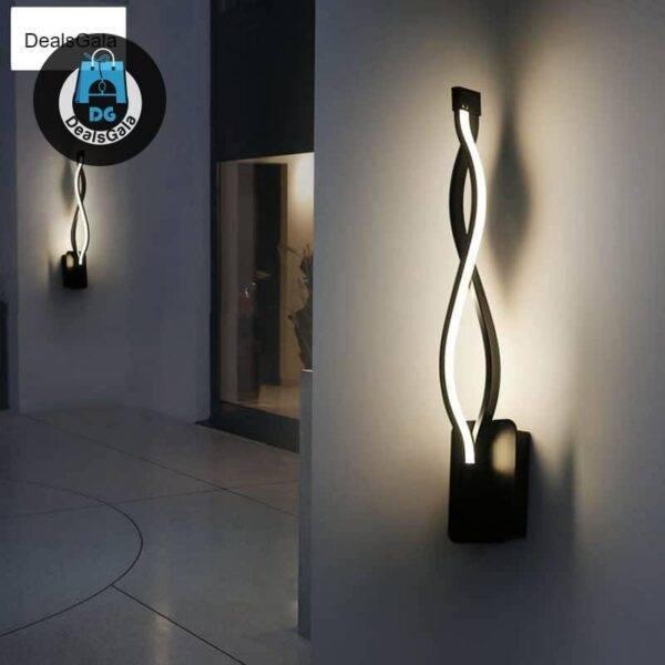 LED Wall Lamp Modern Bedroom Beside Reading Light Home Equipment / Appliances 8ecdde6db90a376d7ab2a4: black white