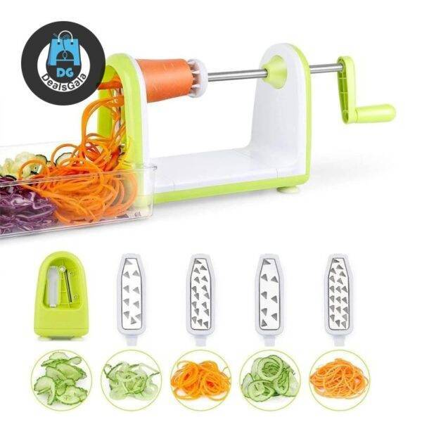 Spiralizer Vegetables Slicer Stainless Steel Home Equipment / Appliances cb5feb1b7314637725a2e7: Blue Green