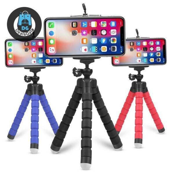 Colorful Flexible Phone Tripod Mobile Phone Accessories cb5feb1b7314637725a2e7: Black Tripod|Black Tripod Set|Bule Tripod Set|Phone Clip|Red Tripod|Red Tripod Set