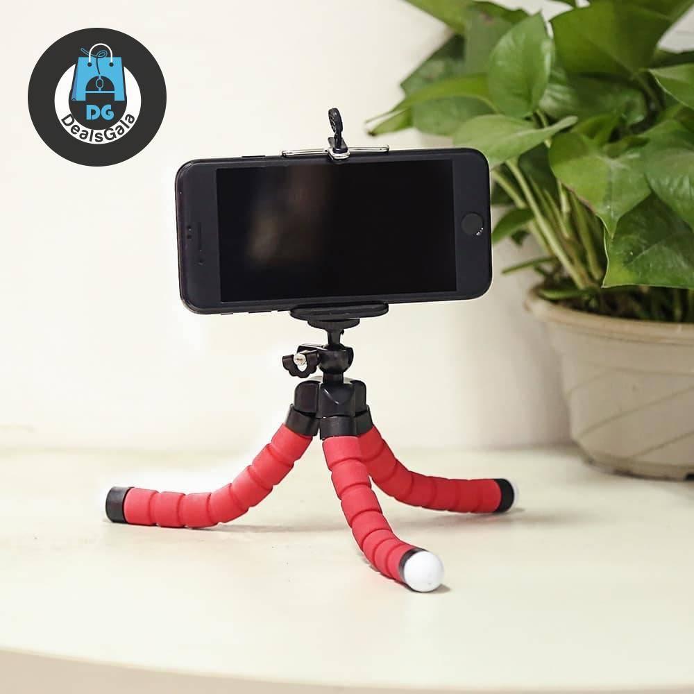 Colorful Flexible Phone Tripod Mobile Phone Accessories cb5feb1b7314637725a2e7: Black Tripod Black Tripod Set Bule Tripod Set Phone Clip Red Tripod Red Tripod Set