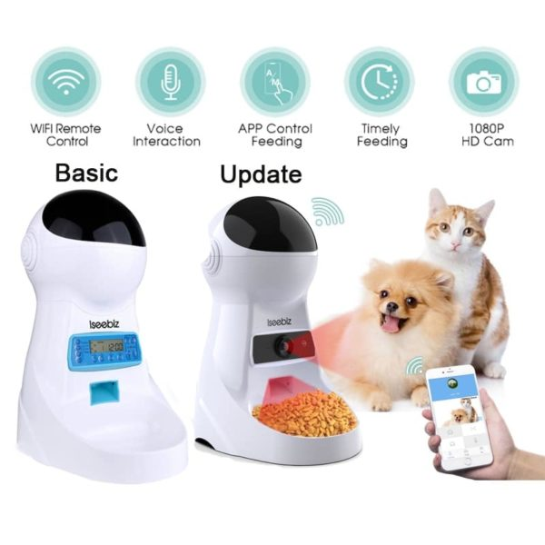 Automatic Pet Feeder With Voice Record Pet supplies cb5feb1b7314637725a2e7: LCD Screen WIFI WIFI and Camera