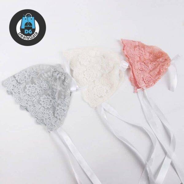 Baby Girl Lace Hat Photo Prop Mother and Kids Baby and Kid's Clothing and Accessories Hats and Caps Girls Accessories cb5feb1b7314637725a2e7: Gray|pink|White