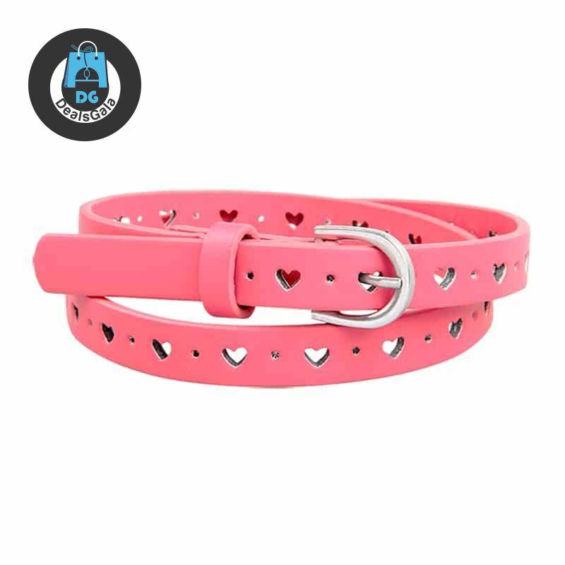 Fashion Solid PU Leather Belt for Kids Mother and Kids Baby and Kid's Clothing and Accessories Girls Accessories cb5feb1b7314637725a2e7: beige|Black|pink|Purple