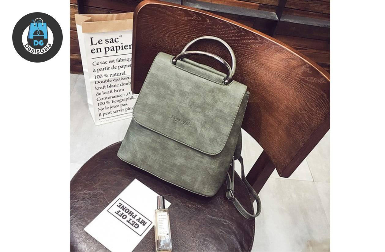 Women's Marble Eco-Leather Backpack