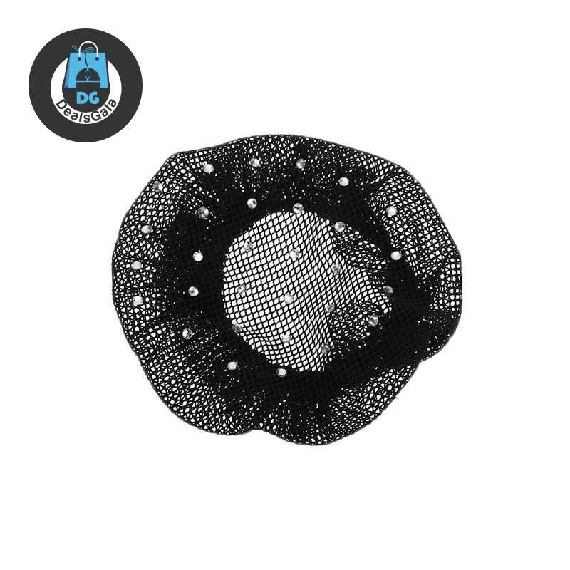 Rhinestone White / Black Hairnet for Wigs Tools and Accessories cb5feb1b7314637725a2e7: Black White White / Black