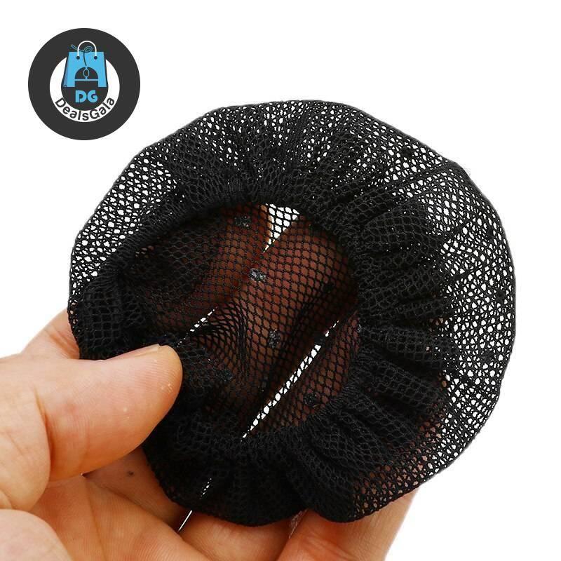 Rhinestone White / Black Hairnet for Wigs