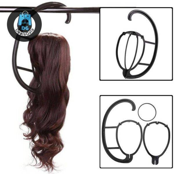 Portable Black Hanging Wig Stand Tools and Accessories Material: plastic