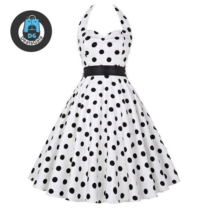 Women's Retro Polka Dot Dress