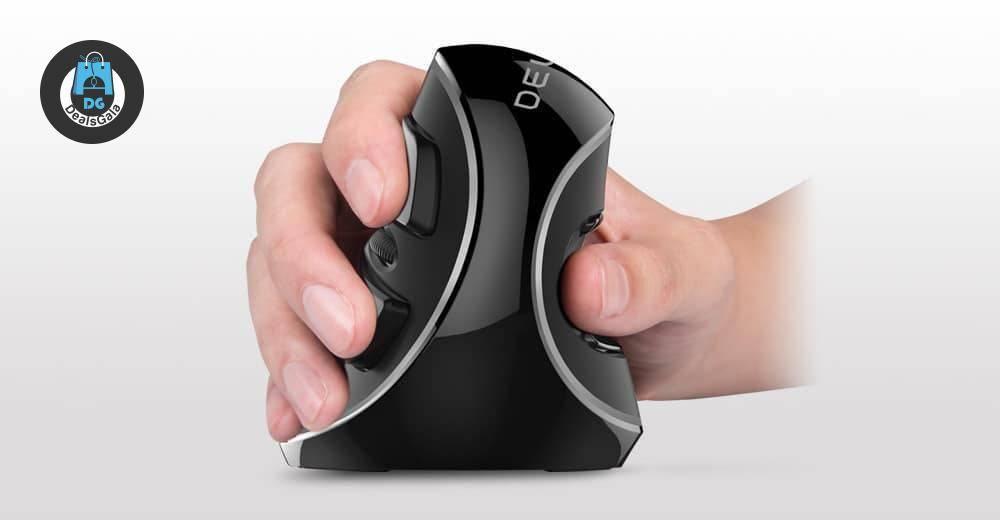 Vertical Ergonomic Designed Wireless Mouse