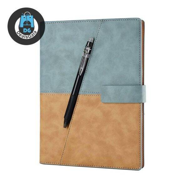55 Sheets Classic Design Notebook in Leather Cover Education and Office Supplies cb5feb1b7314637725a2e7: Black|Brown|Red|Sky blue