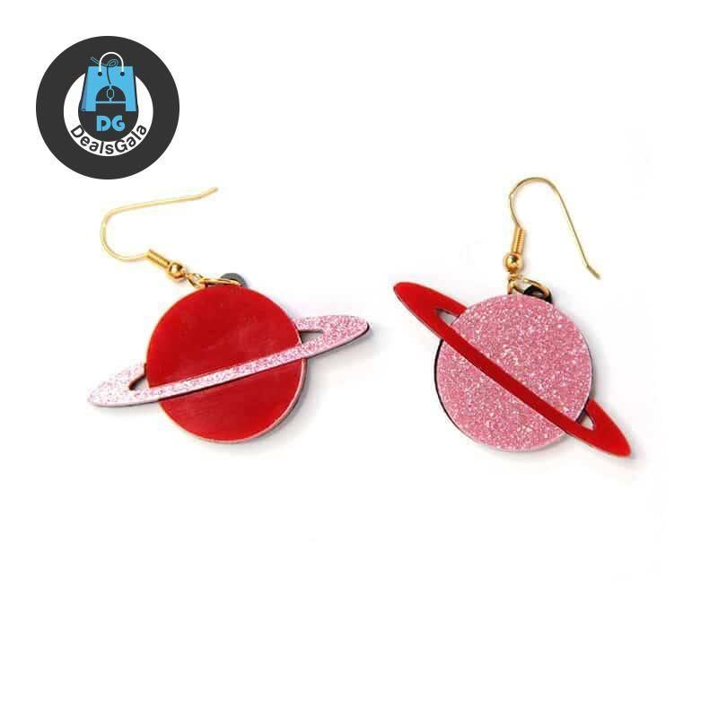 Boucles d'oreilles en acrylique colorées pour femmes