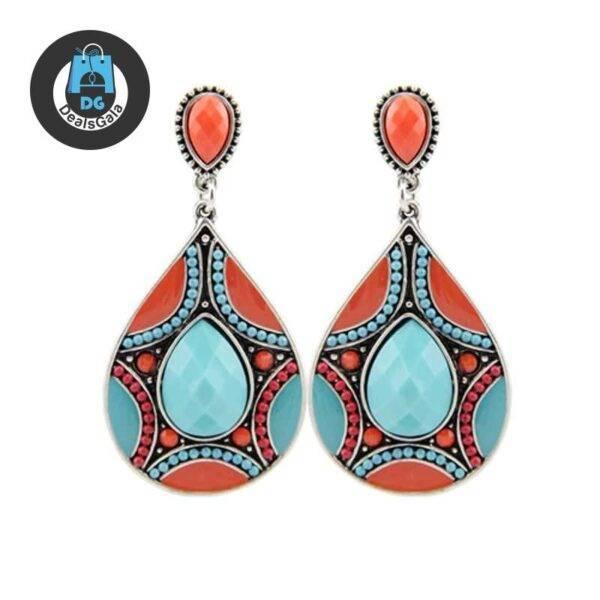 Women's Ethnic Ornamental Earrings Jewelry Women Jewelry Earrings 8d255f28538fbae46aeae7: Orange|Red