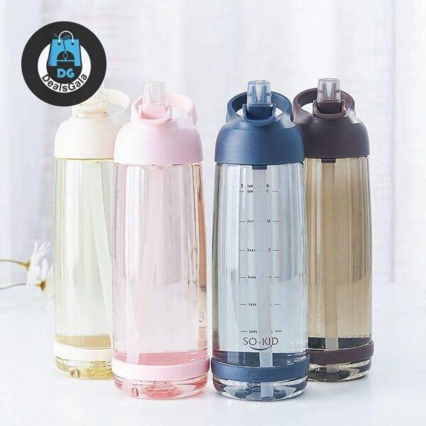 1000 ml Outdoor Water Bottle with Straw Home Equipment / Appliances 3b8f7696879f77dfc8c74a: 1000ML|500ml|850ML