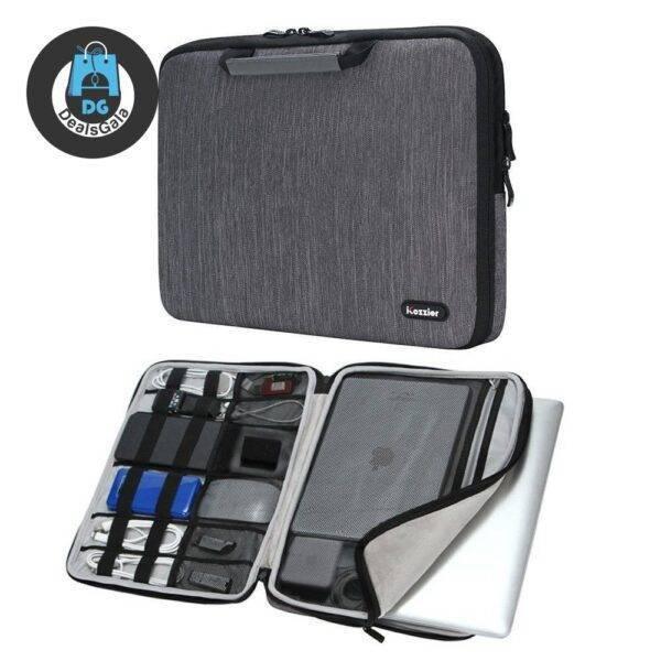 Spacious Bag for MacBook Laptops and Electronic Accessories Laptops Laptop Accessories cb5feb1b7314637725a2e7: Black|Dark gray|Dark Gray (strap)|Rose red (strap)
