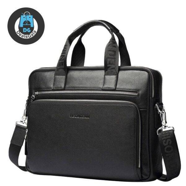Business Genuine Leather Laptop Bag with Slit Pocket Laptops Laptop Accessories cb5feb1b7314637725a2e7: Black Coffee