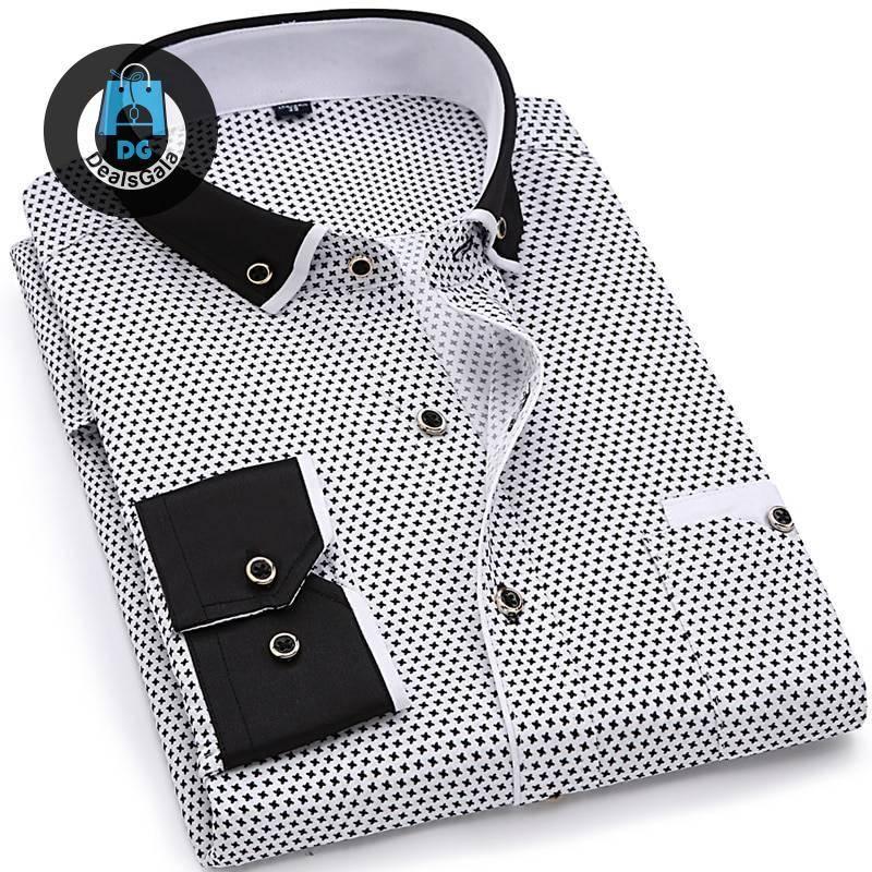Chemise à motifs décontractée pour hommes