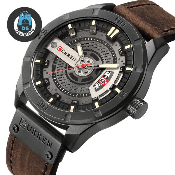 Waterproof Quartz Sports Watches for Men Men's Watches cb5feb1b7314637725a2e7: Black Black / White Black blue black orange Black red