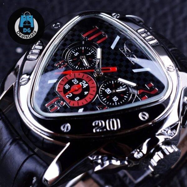 Men's Unique Racing Watch Men's Watches cb5feb1b7314637725a2e7: Black/Silver Red White Yellow