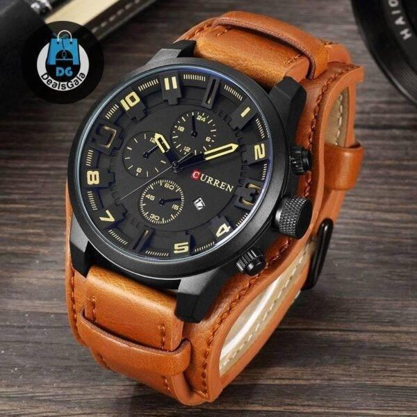 Quartz Watch for Men Men's Watches cb5feb1b7314637725a2e7: Black/Black brown brown Brown-black Brown/ White gray gray