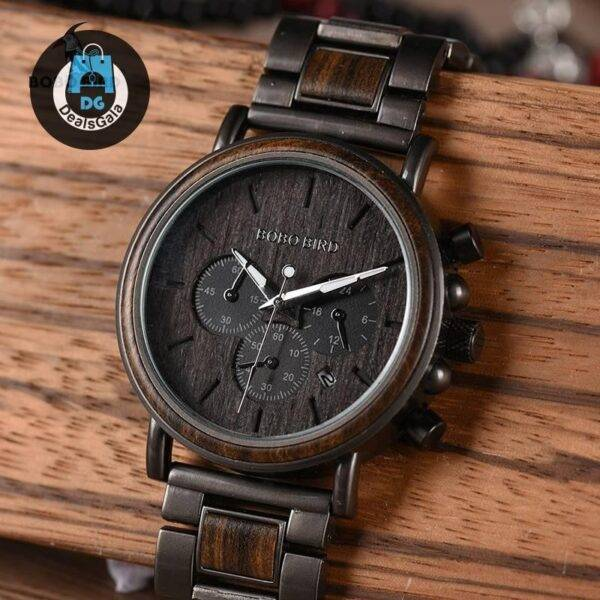 Men's Business Style Wood Decorated Watch Men's Watches Brand Name: BOBO BIRD