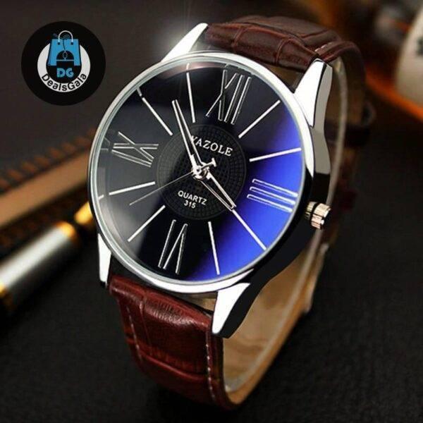 Classical Businesmen's Watches Men's Watches cb5feb1b7314637725a2e7: Black Brown