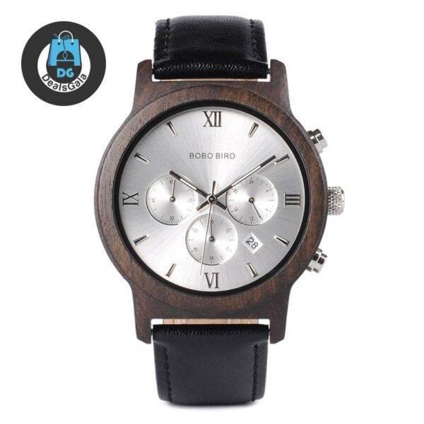 Men's Mechanical Leather Watch Men's Watches cb5feb1b7314637725a2e7: Black silver