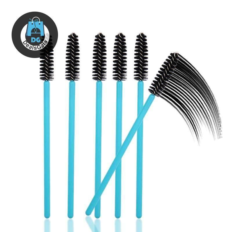 Blue Handle Eyelash  Brushes Set, 1/50 Pcs