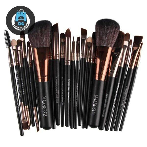 22 Pieces of Cosmetic Make up Brush Beauty and Health Makeup a4a8fbf9f14b58bf488819: Black|Black golden