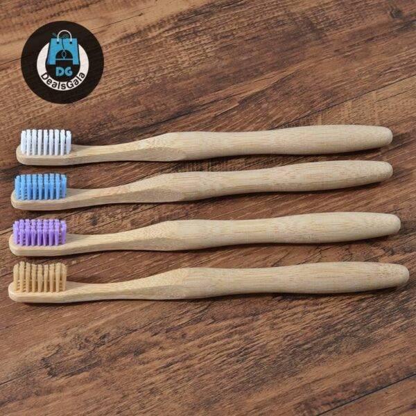 Pastel Colr Bamboo Toothbrush Personal Care Appliances Oral Hygiene cb5feb1b7314637725a2e7: 1Pc beige 1pc Blue 1pc Purple 1pc White