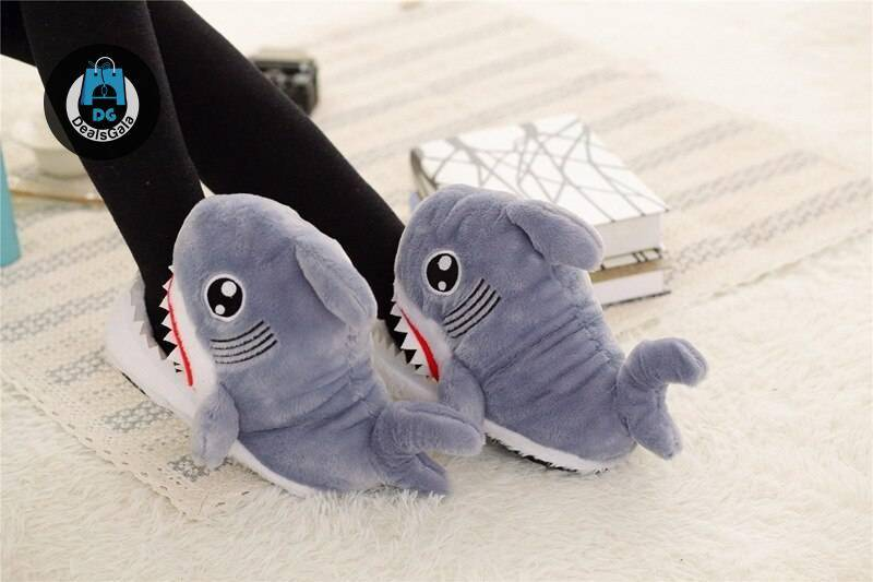 Winter Sharks Funny Warm Shoes