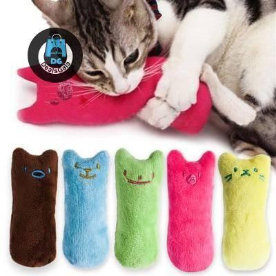 Cat's Funny Catnip Plush Toy Pet supplies cb5feb1b7314637725a2e7: Blue|Coffee|Green|pink|Rainbow Ball|Yellow