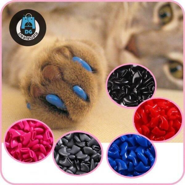 Cat's Nails Caps 100 pcs Set Pet supplies cb5feb1b7314637725a2e7: Black Bright Pink dark blue Gray Green Light Pink orange random colors Red Rose Sky blue Yellow