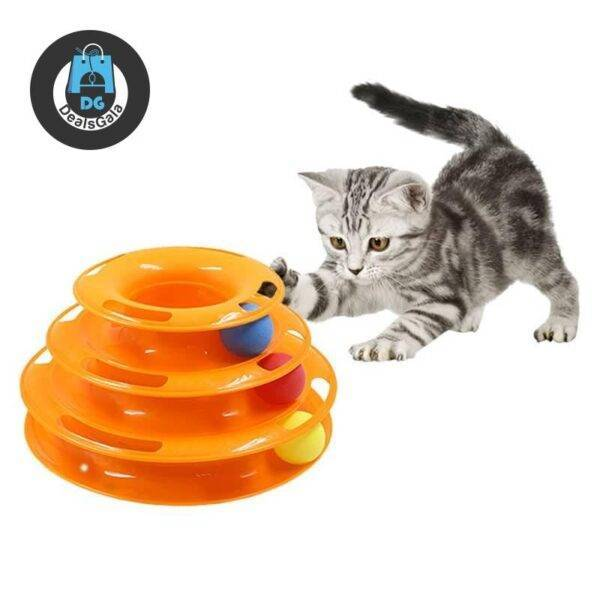 Cat's Three Levels Tower Toy Pet supplies cb5feb1b7314637725a2e7: Gold Green