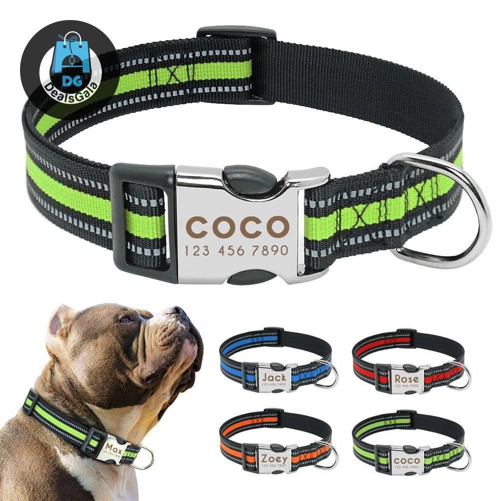 Dog's Striped Reflective Collar