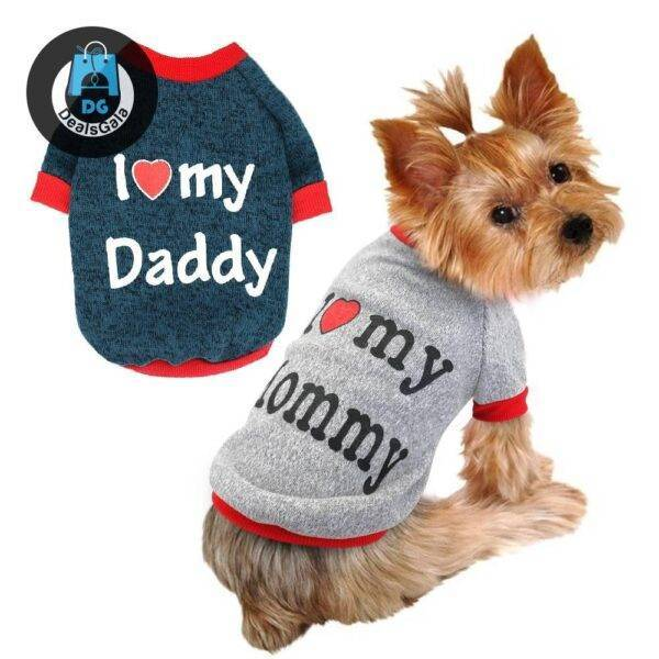 Autumn / Winter Clothing For Small Dogs Pet supplies cb5feb1b7314637725a2e7: Daddy Mommy