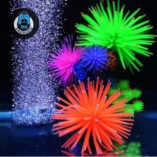 Aquarium Silicone Artificial Aquatic Life Pet supplies cb5feb1b7314637725a2e7: Blue Green orange pink Purple Yellow