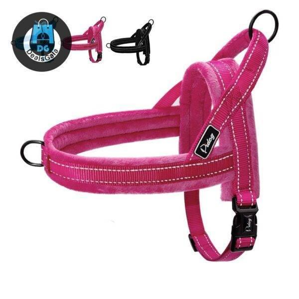 Adjustable Soft Nylon Dog Harness Pet supplies cb5feb1b7314637725a2e7: Black Blue Rose