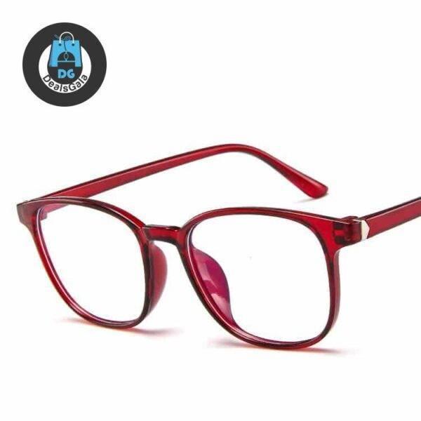 Men's Anti-Blue Light Retro Eyeglasses Men's Glasses b355aebd2b662400dcb0d5: blue1|blue2|Bright Black|Gray|Matte Black|Pink|Purple|Red