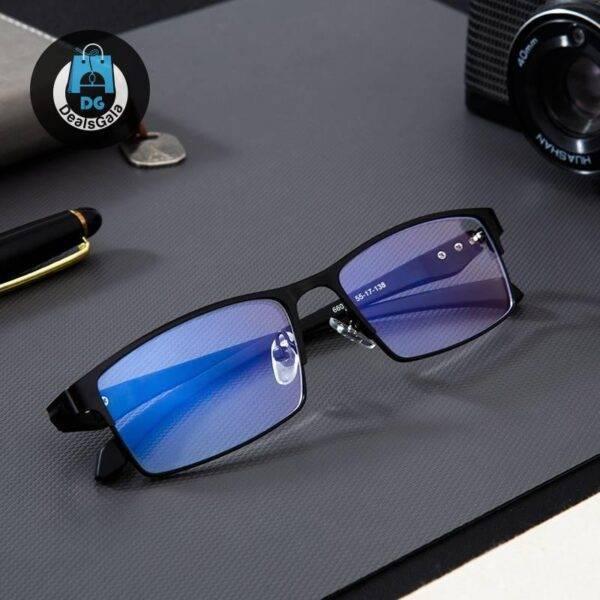 Men's Anti-Blue Light Computer Glasses Men's Glasses b355aebd2b662400dcb0d5: Black|black|Blue|blue|Brown|brown|Gun color|Gun color