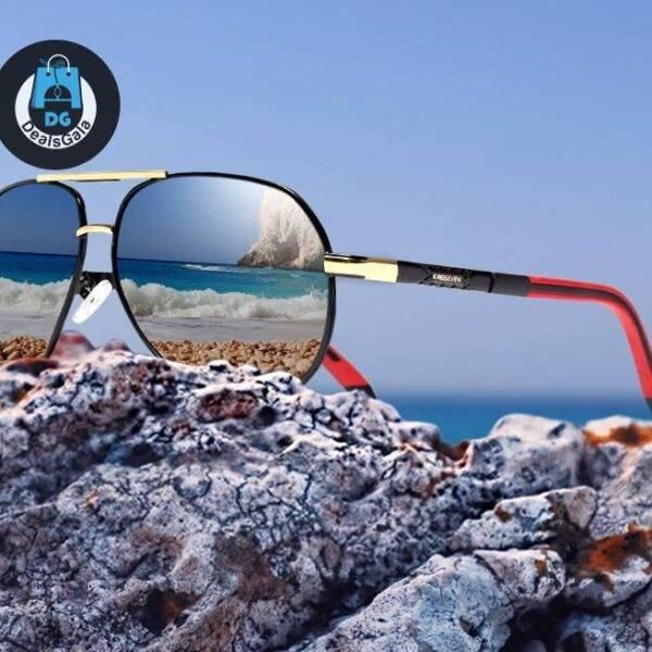 Men's Luxury Style Polarized Sunglasses Men's Glasses af7ef0993b8f1511543b19: Gold Black|Gray Black|Gray Blue|Red Brown|Silver Black|Silver Red