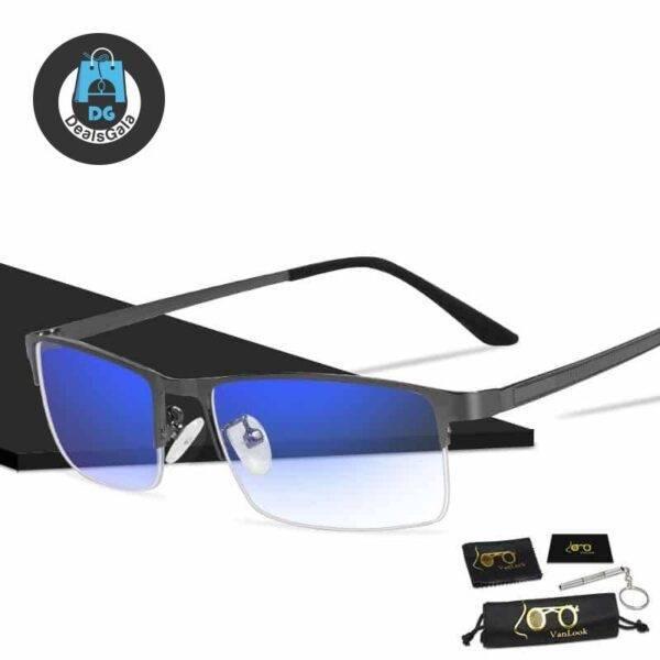 Men's Anti-Blue Light Blocking Glasses Men's Glasses b355aebd2b662400dcb0d5: Black|Gunmetal|Wise Blue
