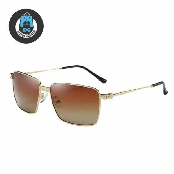 Lunette Square Fishing Sunglasses Men's Glasses af7ef0993b8f1511543b19: BlackGold|BlackSilver|Brown|Gold|gray