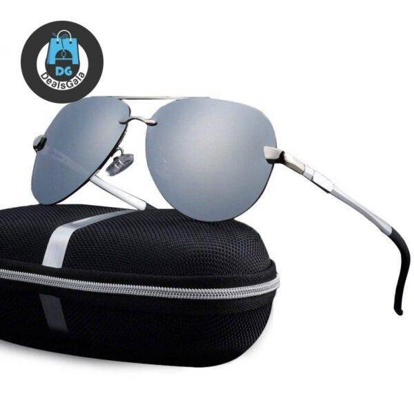 Men's Casual Polarized Aviator Sunglasses Men's Glasses af7ef0993b8f1511543b19: Black|Blue|Brown|Gold|gray|Silver