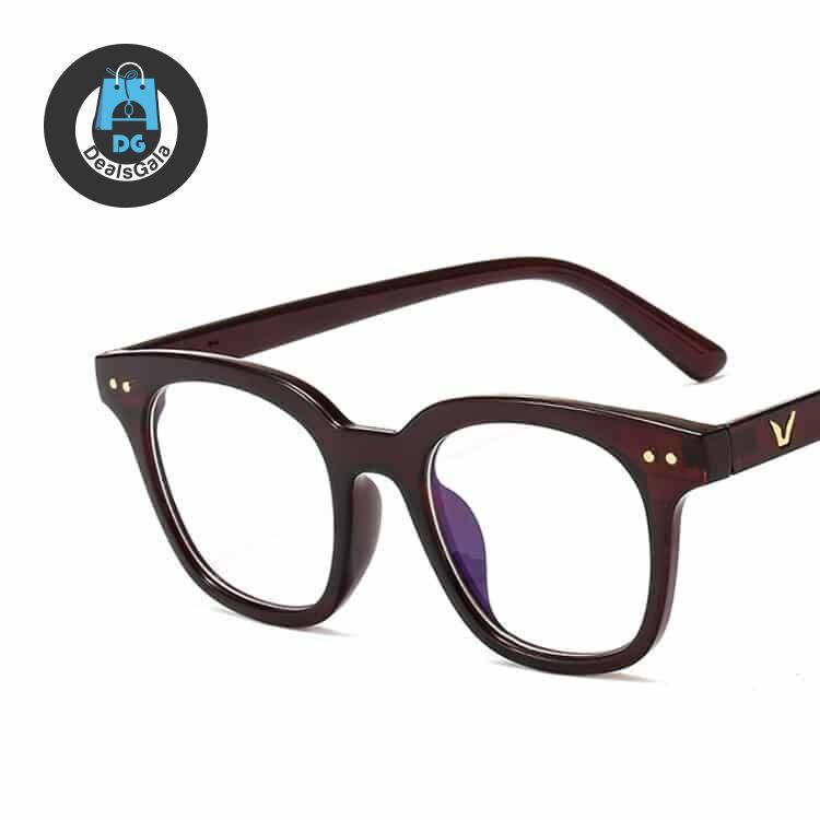 Women's Vintage Square Anti-Blue Light Glasses