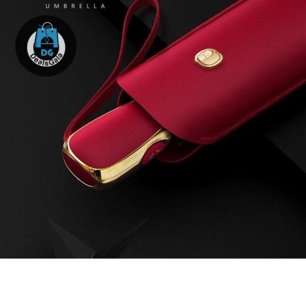Flat Automatic Umbrella cb5feb1b7314637725a2e7: Blue|Golden|pink|Red