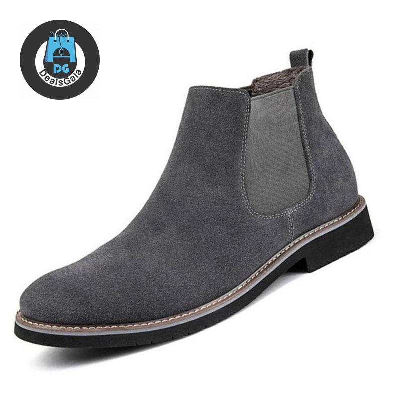 Men Ankle Boots cb5feb1b7314637725a2e7: Black boots Black with fur boot Deep Blue boots Deep blue with fur Gray boots Gray with fur boots Khaki boots Khaki with furboots